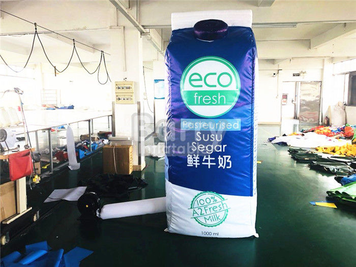 China PVC Tarpaulin Inflatable Advertising Products , Inflatable Model Milk Bottle For Outdoor factory