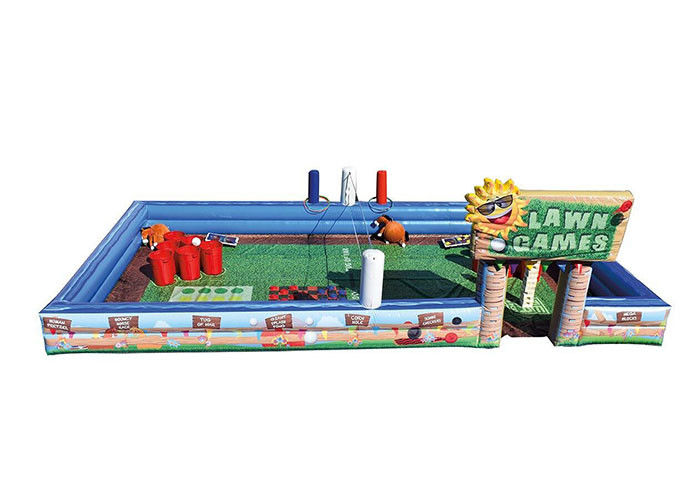 China PVC Inflatable Sports Games , Kids Outdoor Lawn Games With OEM And ODM Service factory