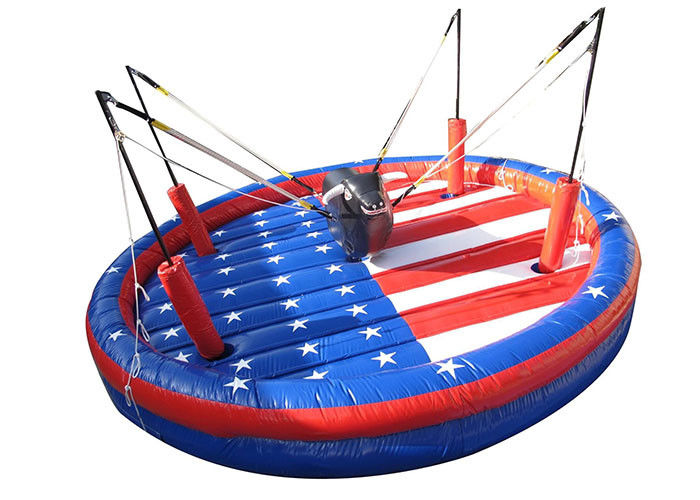 China Interactive Outdoor Inflatable Games , Safety Funny Bungee Bull For Team Building factory