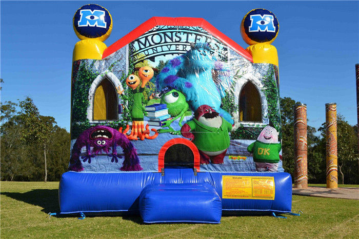 Multifunctional Inflatable Bouncer House , Large Commercial Monsters University Adult Jumping Castle supplier