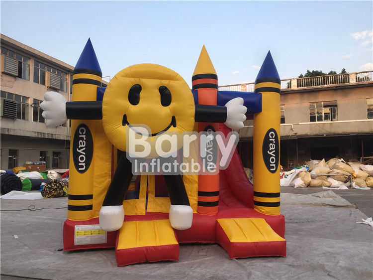 Colorful Smiling Inflatable Happy Face Crayon Combos With Digital Printing