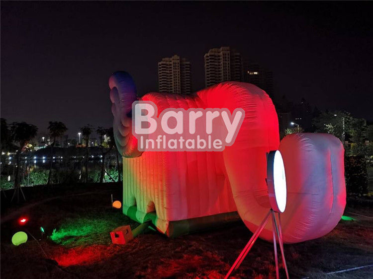 Durable Outdoor Elephent Shape Inflatable Advertising Tent With LED supplier