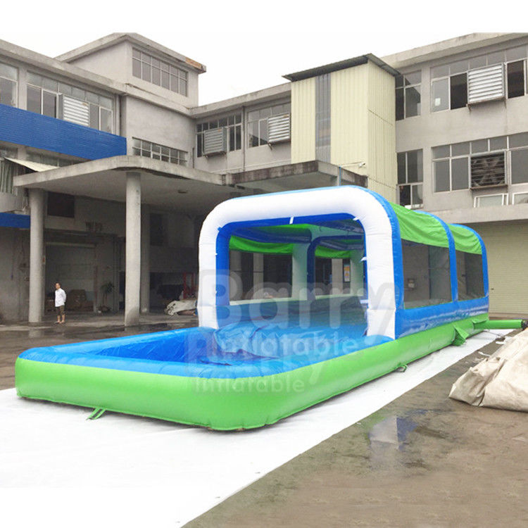 China Easy Set Up Inflatable Water Slides PVC Silk Screen Printing / Blow Up Slip N Slide factory