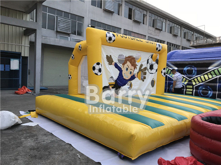 Outdoor Inflatable Sports Games , Backyard Inflatable Soccer Goal Game supplier