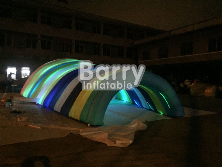 China Waterproof White Inflatable Tent For Event , Customized Blow Up LED Tunnel Tent factory