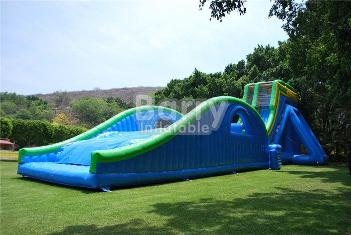 China 0.55mm PVC Tarpaulin Giant Inflatable Slide For Event / Huge 42ft Tall Drop Kick Water Slide factory
