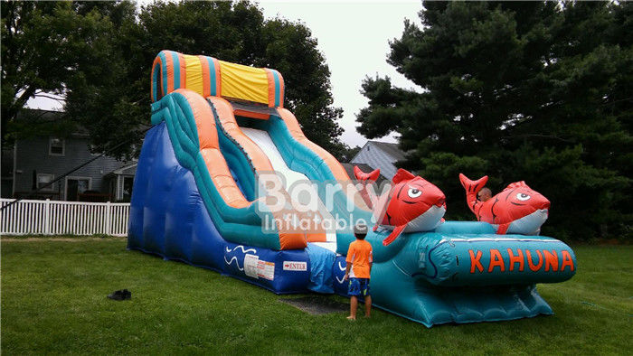 Colorful Commercial Inflatable Slide , Big Kahuna Inflatable Water Slide  For Party