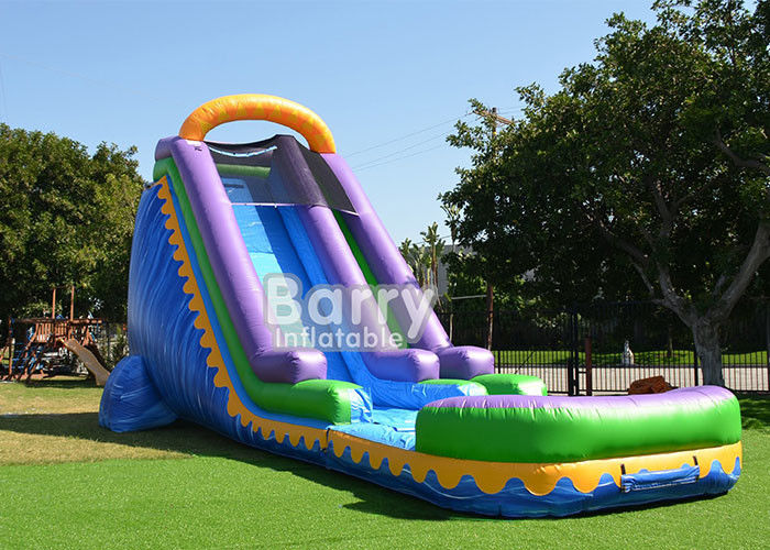 China Outdoor Commercial Inflatable Water Slides With Pool For Backyard Party factory