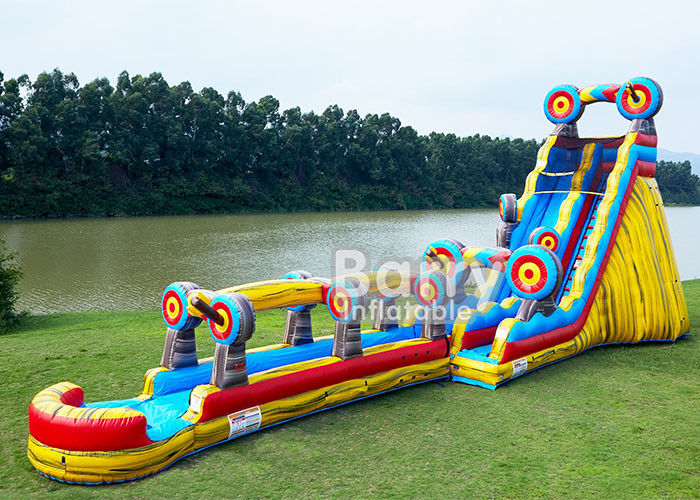 China Animal Theme Inflatable Water Slides , Customized Size 25 FT Target Slip N Slide factory