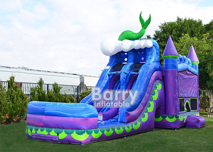 Mermaid Dual Lane Titan Plus ( 6 IN 1 ) Combo / Inflatable Bouncer Slide Combo supplier