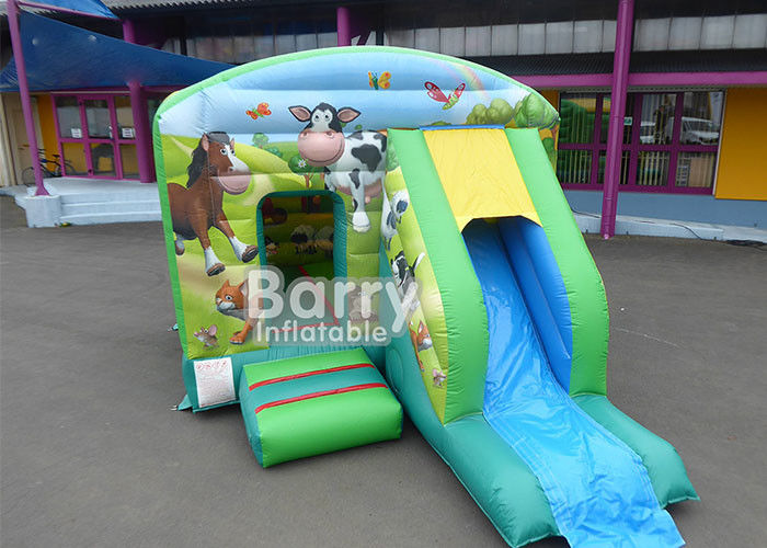 Outdoor Toddlers Farm Theme Animals Inflatable Jump Combo Bouncer supplier