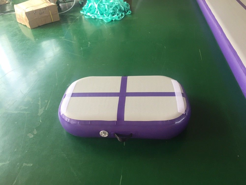 Professional Air Jumping Track Purple Inflatable Air Board Air Block For Gymnastics supplier