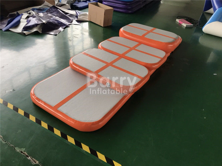 China Eco - Friendly Children Orange Tumbling Mat Inflatable Air Track Training Set For Gym factory