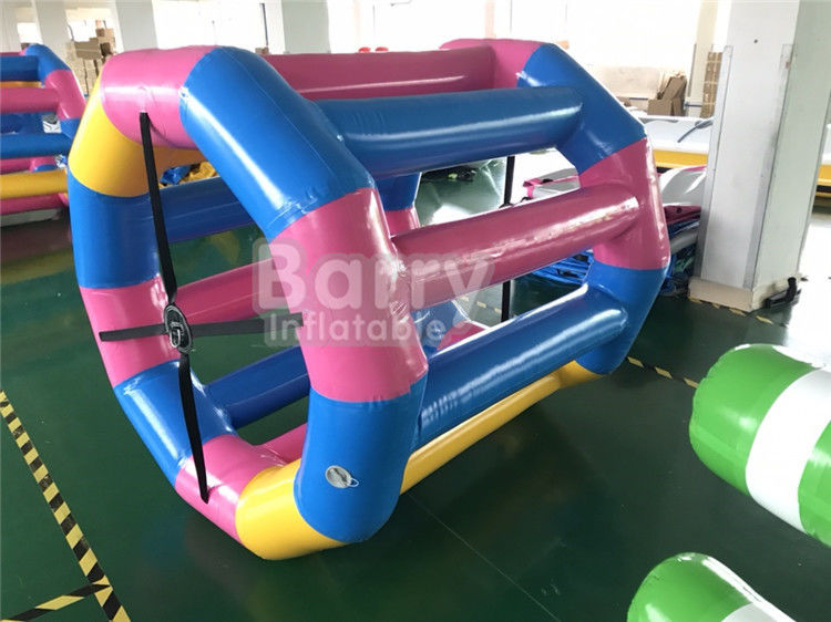 China Durable Large Floating Water Wheel / Inflatable Water Walking Roller Ball factory