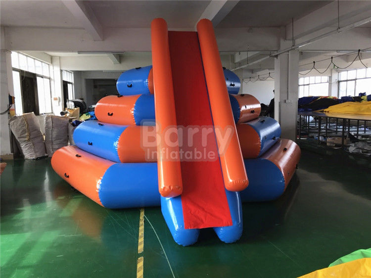 PVC Inflatable Floating Water Slide Water Toys , Inflatable Water Park Games