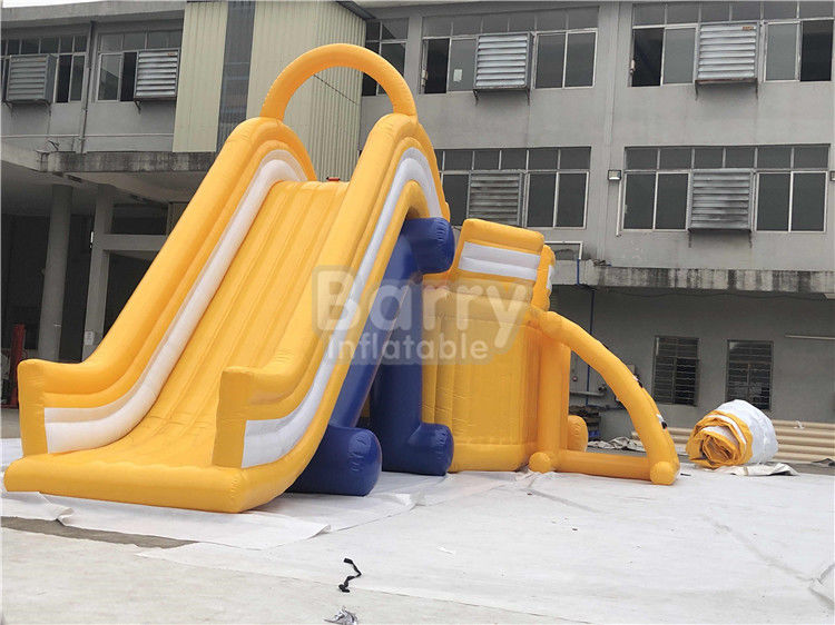 Yellow Kids Adult Giant Inflatable Sea Water Park For Summer High Durability supplier