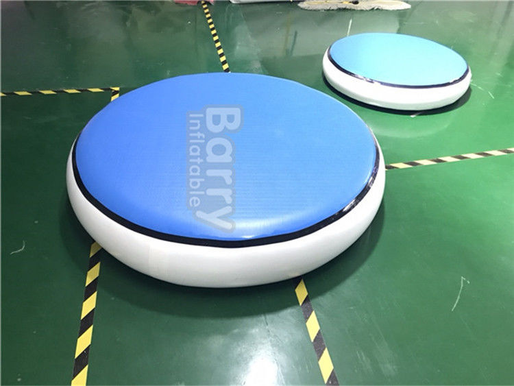 China Round Blue Inflatable Air Track Gymnastics Mat DWF + 1.2mm Plato Material factory