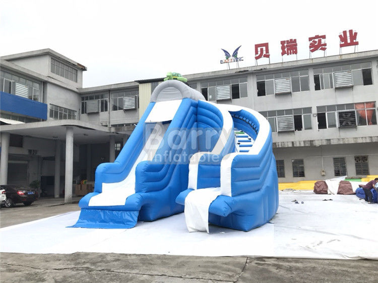 China Cool Splash Fun Inflatable Pool Slide , Realistic Shape Tortoise Water Slide For Inground Pools factory