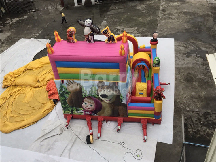 China Party Equipment Commercial Inflatable Bounce House And Slides For Children factory