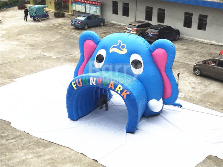 Athletic Event Blue Elephant Inflatable Entrance Arch Gate 6 Months Warranty supplier