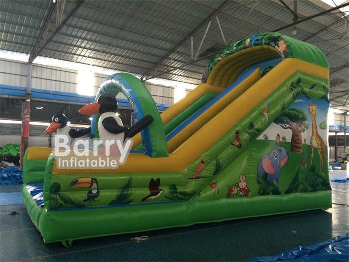 Cartoon Minion Theme Inflatable Floating Water Slide 7*4*5m Water Park Slide For Kids
