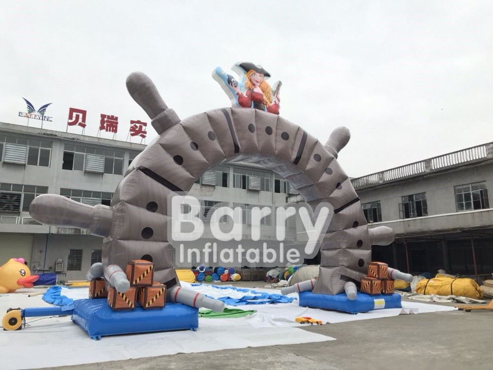 China Cartoon Giant Advertising Inflatable Entrance Arch For Promotion Event , Park factory