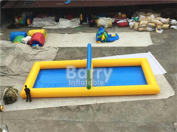 China Outdoor Inflatable Sports Games PVC Inflatable Water Volleyball Court factory