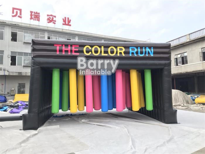 China Customized Inflatable Interactive Games With Obstacle Color Run / Inflatable Sports Games factory