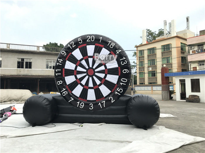 China Customized Outdoor Foot Dart Inflatable Sticky Soccer Dart Board Game factory