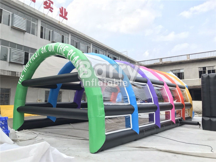 China Outside PVC Inflatable Tennis Tent , Inflatable Arch Tent For Sports factory