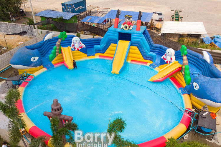 China Commercial Inflatable Water Park Playground Commercial Water Park With Blower factory