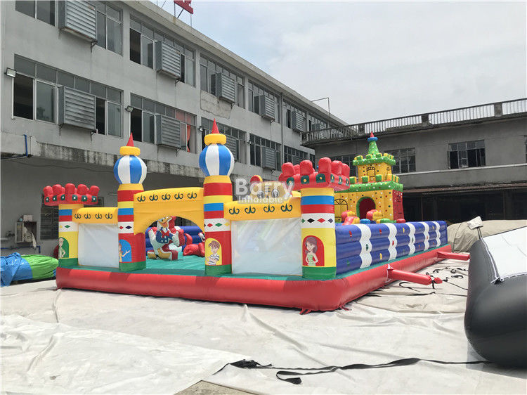Commercial Inflatable Playground Amusement Park Bouncer Slide For Kids supplier