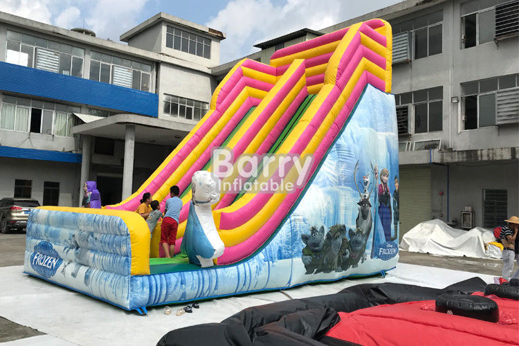 Outdoor Inflatable Dry Slide For Kids / Commerical Slide With Princess supplier