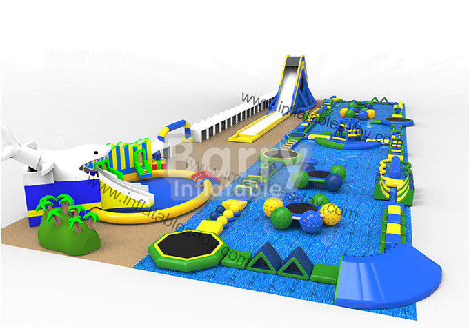China Big 60 People Sports Park , Resort Inflatable Floating Water Park For Summer factory