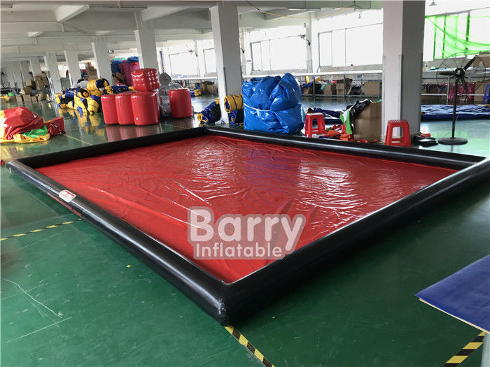 China Airtight Cleaning Inflatable Car Wash Mat / Inflatable Water Containment Mat factory