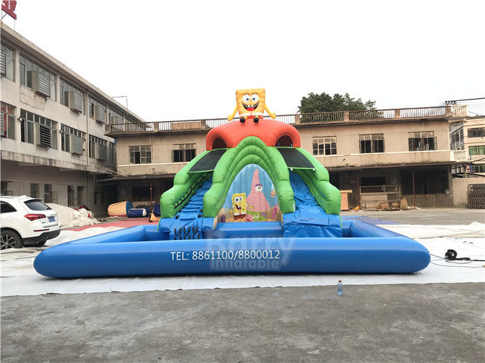 China Minions Inflatable Water Park , Open Pool Water Park Games For Adults factory