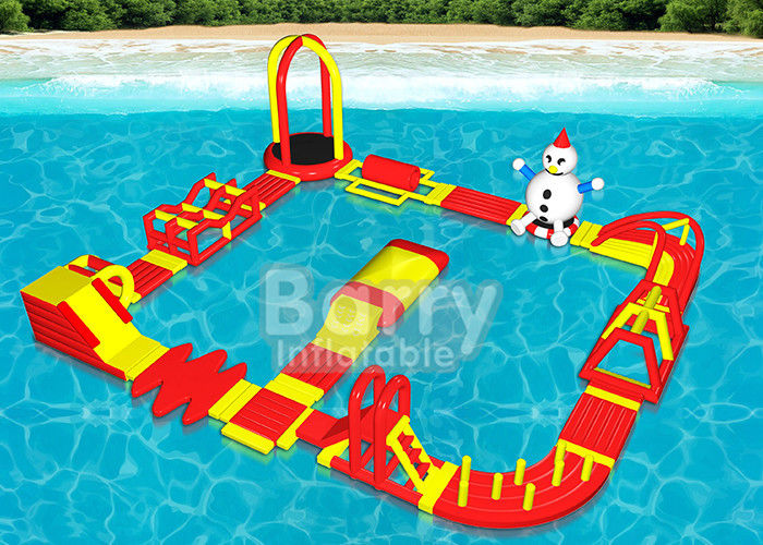 Multiple Combinations Inflatable Water Park , Inflatable Aqua Sport Water Game supplier