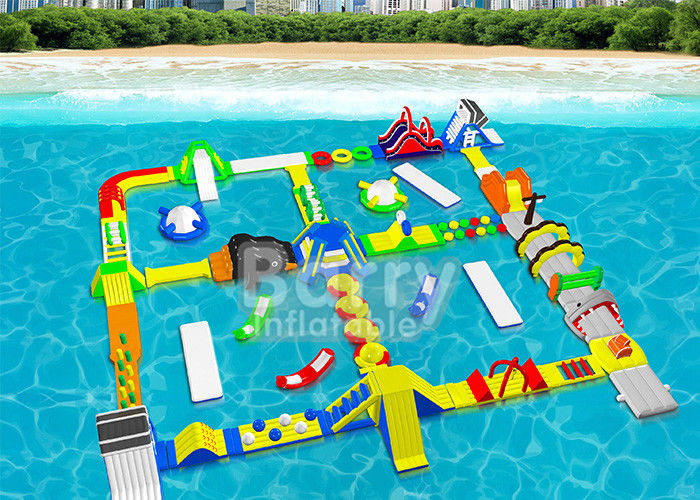 China Open Water Inflatable Floating Water Park Adventures For Adults And Kids factory