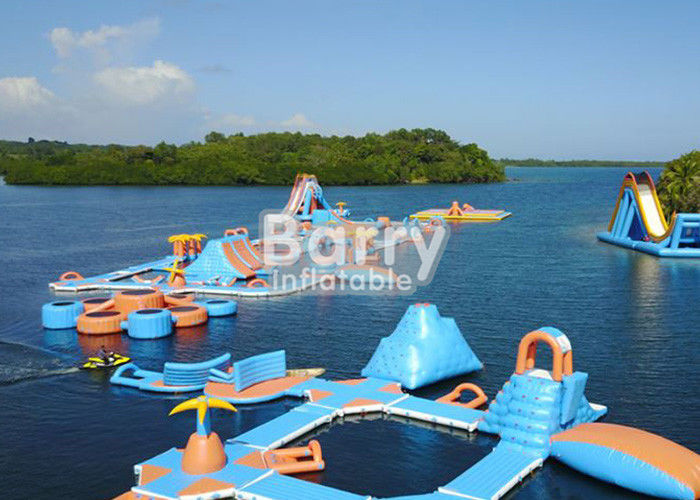 China Custom Made Weld Air Sealed Open Water Inflatable Floating Island Park factory