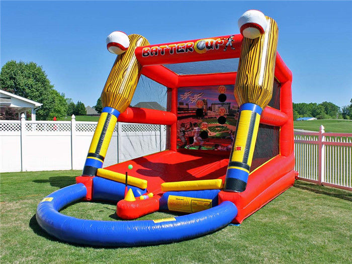 China Outdoor Inflatable Baseball Batting Cage Batter Up Inflatable Baseball Target Shooting Games factory