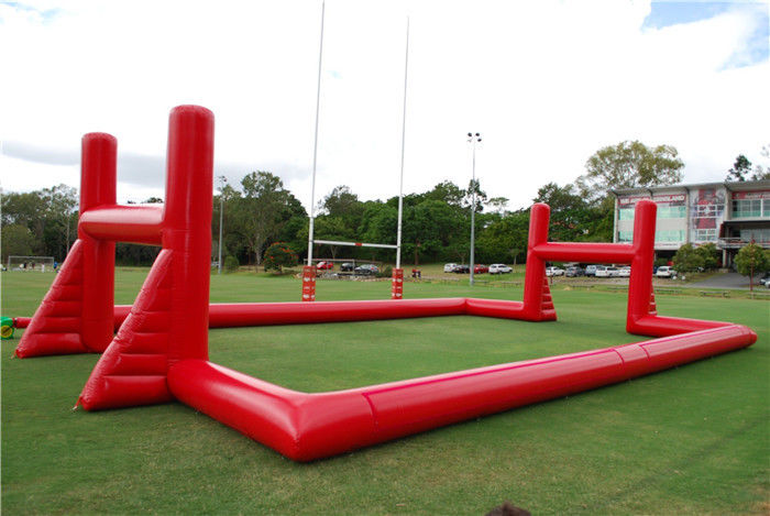 China Mobile Blow Up Rugby Field Inflatable Sports Games With Air Blower factory