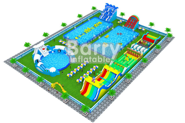 China Professional Inflatable Water Park Business Plan / Water Park Design Build factory