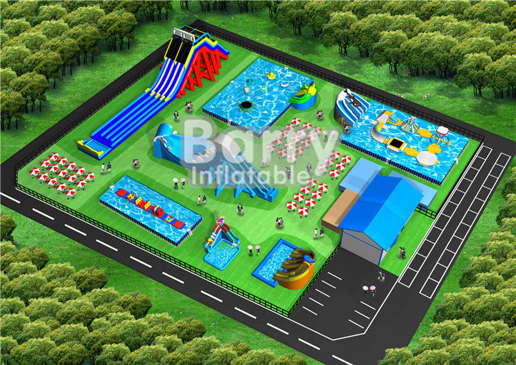 China Commercial Blow Up Inflatable Water Park Equipment For Kids And Adults factory