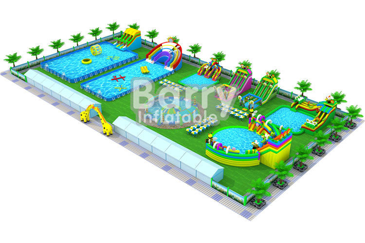 China Inflatable Dry Water Park Equipment Playground Business Plan PVC Tarpaulin 0.9mm factory