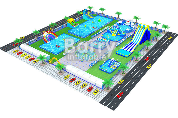 China Giant Inflatable Amusement Park Land Ground Water Park Builder Barry factory