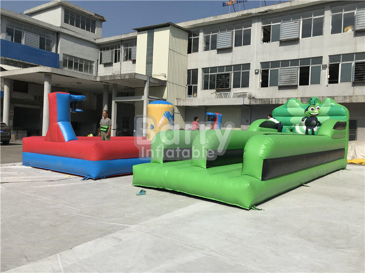 China Outdoor Body Inflatable Sports Games Running Super Bungee Run Game Competition factory
