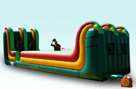 China Exciting 2 In 1 3 Lane Bungee Run Race Inflatable With Basketball Shooting factory