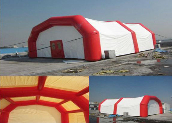 China Portable First Aid Emergency Easy Folding Inflatable Red Cross Medical Tent factory