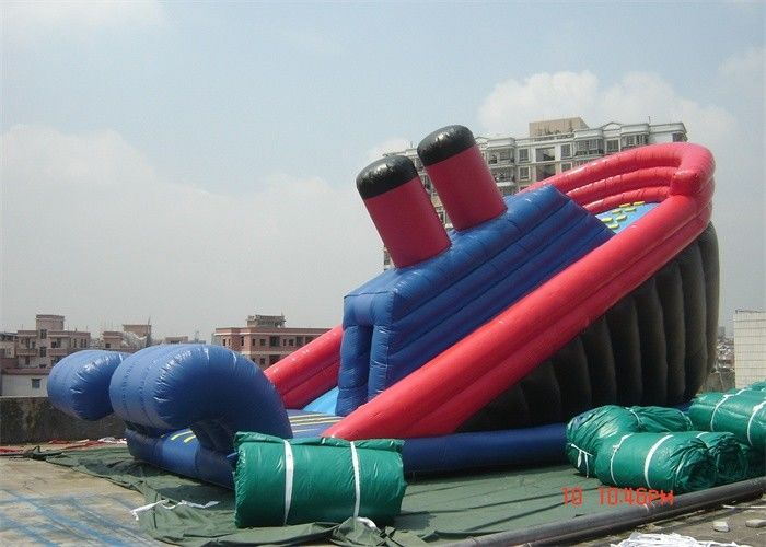China Amazing 10M Durable Commercial Pirate Ship Inflatable Slide For Childs factory