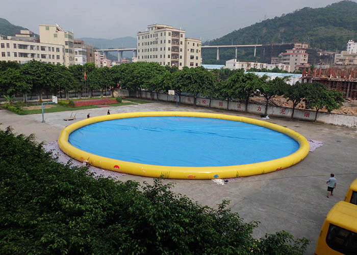 China Customized Family Large Inflatable Garden Swimming Pool For Blow Up Water Park factory